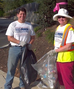 Paul at Newark Community Cleanup, October 6, 2012